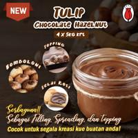 TULIP FILLING CHOCOLATE PASTA 5 kg MURAH / SELAI TULIP 5 KG