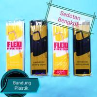Sedotan Flexy Fresh / bengkok / tekuk / jus hitam putih isi 33pcs