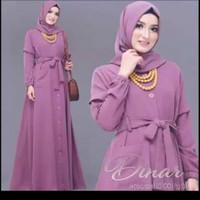 Dinar maxi dress baju gamis pakaian wanita fashion muslim - Hitam
