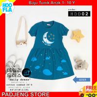 Baju Anak Perempuan Hoofla Kids Tunik Pakaian Main Katun Adem 1 - 10 Y