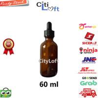 Botol Pipet Kaca 60 ml Amber Childproof Segel - Botol Serum Vape Liqui