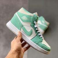 Sepatu Nike Air Jordan 1 AJ1 High Turbo Green White Hijau Putih