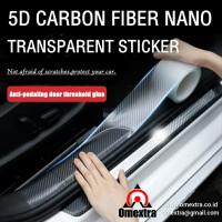 Transparan 5D Carbon Fiber Nano Sticker Stiker Anti Gores 5D Tranparan