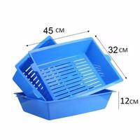3 in 1 self sifting tray swift away cat dog litter box pasir kucing