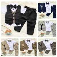 Baby tuxedo set tuxedo bayi baju kondangan celana panjang dan pendek