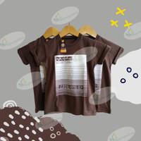 Baju Kaos Distro Anak UPLINE Coklat Garis/ wigiwigieshop