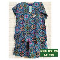 Baju setelan Batik kencana ungu kub Maxi 75 Label biru Warna Random