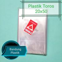 Plastik Toros panjang / 20x50 PP kerupuk / terompet