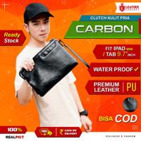 Tas Tangan Kulit Pria (Carbon)