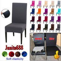 Elastis CHAIR COVER size S / Sarung PENUTUP kursi makan - L.Coffe