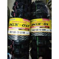 ban dunlop dgx 01 18 21 trail paket depan-belakang ban motor cross