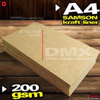Kertas Karton Samson Kraft Liner A4 200 gsm 40 lembar