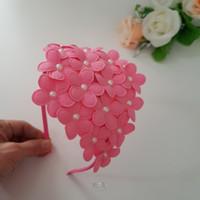 Bandana Aksen Bunga dan Mutiara Bando Bunga Cantik untuk Anak - PINK