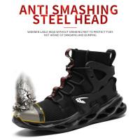 sepatu hiking terbaik super safety hitam ori ringan big size 36-48