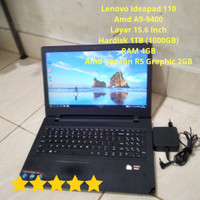 PROMO!! Laptop Gaming Lenovo Ideapad 110 AMD A9-9400 HDD 1TB Second