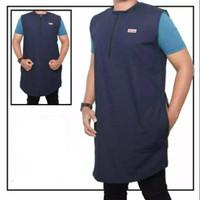 Rompi Sholat Laki2 Trendi Zipper Kantong Baju Shalat Rosal Kantung
