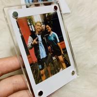 Acrylic Magnetic Polaroid Photo Frame + foto polaroid instax fujifilm
