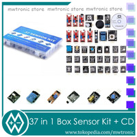 All Sensor Kit 37 in 1 Box Plus CD Tutorial for Arduino Raspberry