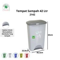 Green Leaf Tempat Sampah BIO Injak 42 Liter 2142