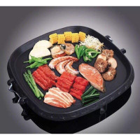 Hanaro Square Multi Grill (Marble Platinum) Korean Bbq Grill Pan 34CM