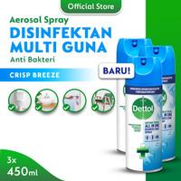 Dettol Disinfectant Spray Crisp Breeze 450ml - 3 Pcs