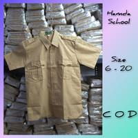 Seragam Sekolah Baju Pramuka Lengan pendek Kntong Atas Untk Sd/Smp/Sma