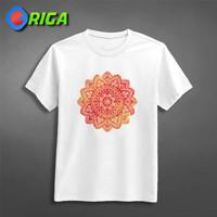Kaos Premium - Indian Ornament - ORIGA 0022 - Art - Putih, S