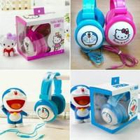 Handsfree Headset Bando Karakter Hello Kitty Doraemon