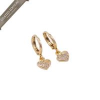 Meilyn Anting Clip Gold Motif Love 0271200249