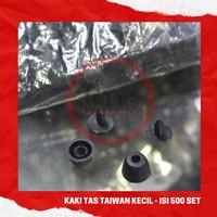 Kaki Tas Taiwan Kecil Hitam Aksesoris Tas Murah Jakarta - isi 500 set