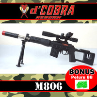 Mainan Senapan Sniper SVS M-806 Modern Version - Cobra M806