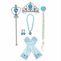 Jusyco Tina Long Sleeve Frozen Elsa Dress - set mahkota