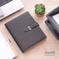 Buku Agenda Planner Cover Kulit Hitam Black Leather Bantex #7491 10