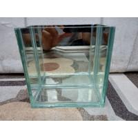 soliter selvi ikan cupang 3 sisi akuarium kaca mini uk:12x6x12/1pcs
