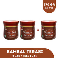 PAKET SAMBAL TERASI JAR 170 GR BUY 2 GET 1