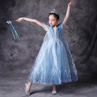 Mila Frozen Anna Elsa Terbaru Disney Princess Kostum Impor Dress Baju