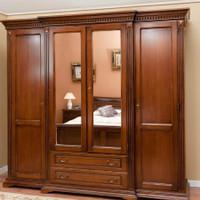 Lemari pakaian bahan kayu jati perhutani jepara / 4 pintu minimalis