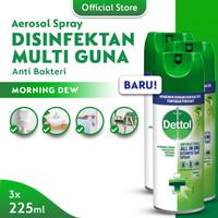 Dettol Disinfectant Spray Morning Dew 225ml - 3 Pcs