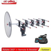 Antene Antena TV+Remote+Kabel 10m+Jek INTRA INT-888 DGT Keren