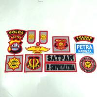 logo emblem atribut bordir satpam terbaru / patch atribut security new