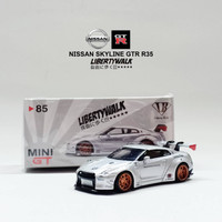 Diecast Mobil Nissan Skyline GTR R35 Liberty Walk Skala 1:64 Koleksi