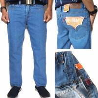 Celana Jeans Pria Standar Reguler Fit ukuran 28 - 39 TERMURAH BISA COD