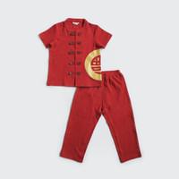 Baju Imlek Anak / Setelan Bayi dan Anak / I am Cotton Setelan Red Fu