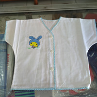 baju bayi katun bordir pendek