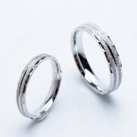 RC 051- Cincin Couple Perak Sterling 925 Emas Putih ASLI Korea-Garansi