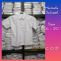 Seragam Sekolah Baju Polos Pendek untuk Sd/SMP/SMA