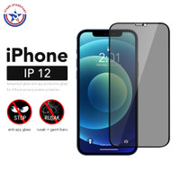 Anti Spy Tempered Glass iPhone 12 / Antispy Antigores / Anti Gores - iPhone 12 SPY, Hitam