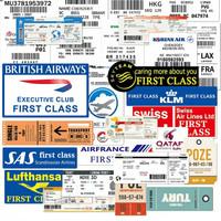 Stiker Boarding Pass Sticker koper rimowa tiket maskapai airlines