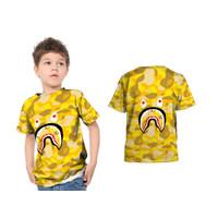 T-Shirt Anak BAPE SHARK 3D FullPrint Sublimation