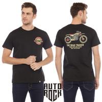Kaos Pakaian Pria Autorock Road Trucker Black Tshirt Pria Kaos Distro - S